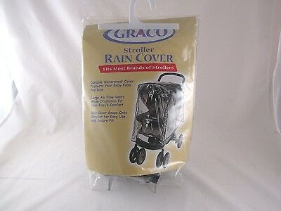 Graco stroller rain cover fits most stroller brands clear