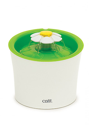 Catit Flower Fountain 3 Water Flow Cat Fountain Stimulate Cat Drinking No Stress