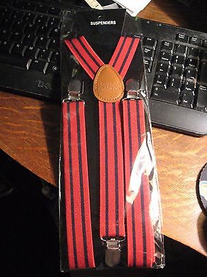 Maker's Mark Suspenders - Makers Mark Kentucky Bourbon Whisky Elastic Braces NEW