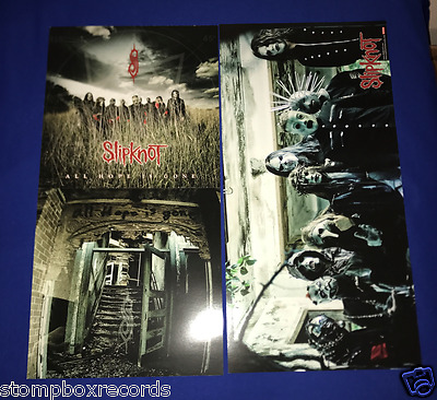 (2) 2008 Slipknot All Hope Is Gone 2 SIDED PROMO POSTER MINT Stone Sour 12x24in