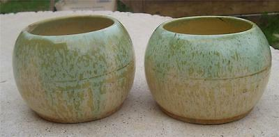 2 X Vintage Remued Globe Shaped Bowls, Round Mouth - 30