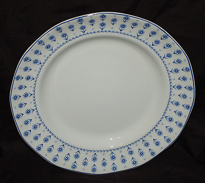 """One Adams China 10-3/4"""" Dinner Plate  Daisy Blue and White  Decent Shape"""