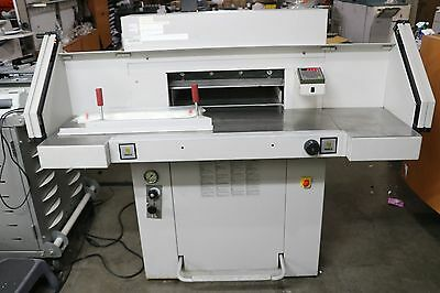 """MBM Triumph 5551-EP Automatic Programmable Hydraulic Paper Cutter 21 5/8"""" + Side"""
