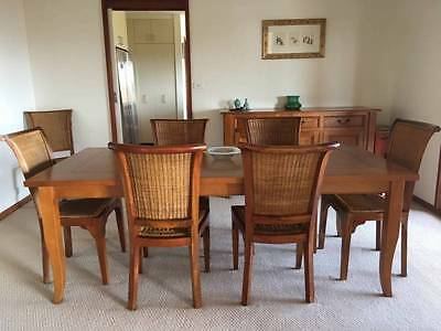 8 seater dining table and chairs.
