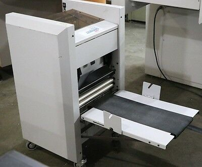MBM SPRINT 5000 Booklet Maker Jogs, Staples, and Folds in One Operation