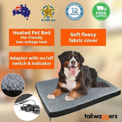 Large Heated Pet Bed Mattress for Dog Cat Puppy Soft Cushion Warm Mat Pad House
