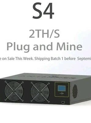Antminer S4 2 TH Mining Contract