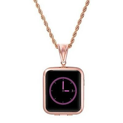 Apple watch 42MM  Necklace & Protective Case Free Screen Protector Rose Gold New