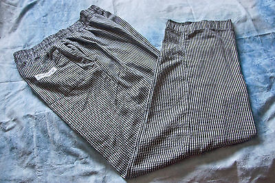 3 pair black & white checkerd chef pants 1 chef works 2 unbranded ships free