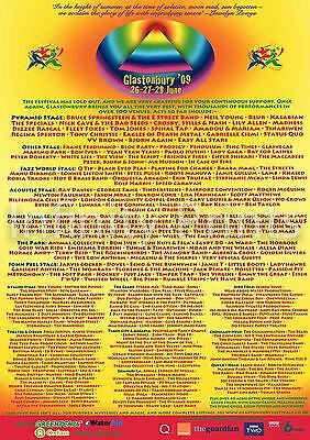 Glastonbury 2009 Music Poster A3 A4