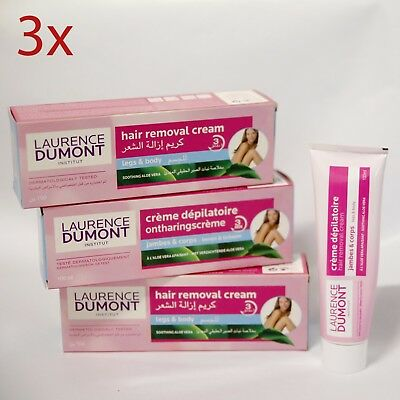 4x Laurence Dumont Institut Hair Removal Cream 100ml each for Legs & Body NO BOX