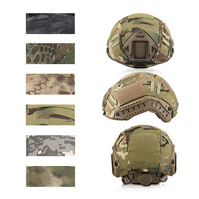 Individual Size Tactical Multi Camo Fast Helmet Cover Bump Jump Camouflage