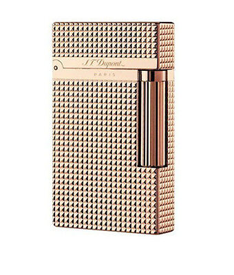In box Dupont lighter Bright Sound Rose Gold S.T Memorial