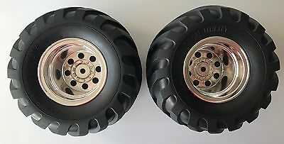 Tamiya 9805619/19805619 Wild Willy 2/Mad Bull Rear Wheels & Tyres (1 Pair) NEW