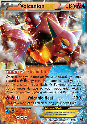 Pokemon Card: Volcanion EX - 26/114 - Ultra Rare XY Steam Siege