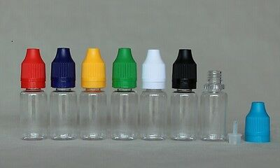 10ml PET Clear dropper bottle tamper proof child proof cap 100 sets