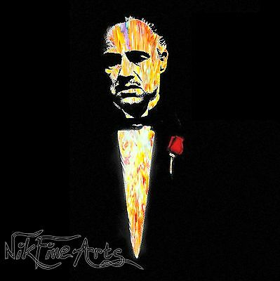 Original Painting Large Signed Art Collector Investment The Godfather Amazing