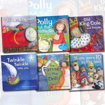 Wendy Straw Nursery Rhymes 6 Books Brolly Age 4-8 Paperback English