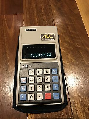 Vintage Sanyo Calculator made in Japan