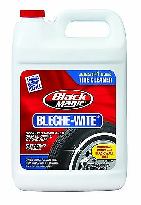Black Magic Tire Cleaner 1 Gallon Bleche-Wit​e Cleans Black Wall & White Wall