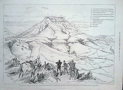 1881 Print The Transvaal War : Sketch Plan Of The Battle Of Majuba Hill