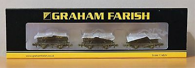 N Gauge Graham Farish 373-665 Set of 14T Tank Wagons Tarmac Weathered BNIB