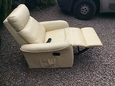Faux leather Leatherette Manual recliner massage chair ( Project )