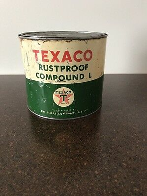 Vintage Texaco Rustproof Compound L 5 Lb Can The Texas Company