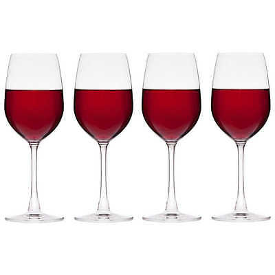 Wiltshire SALUTE RED WINE GLASS Premium Quality, Clear & Durable, 425mlx4Pc