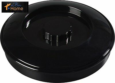 "Carlisle 47003 Tortilla Server with Lid, 7-1/4"" / 1-15/16"", Black (Pack of 24)"