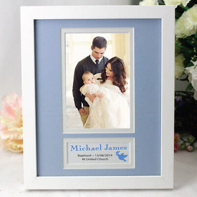 Personalised Baby Photo Frame - Blue - Made to Order