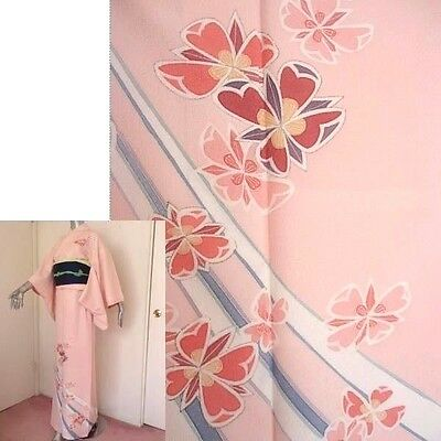 Brand New Machine Washable Cute Pink Kimono w/Tailor's Thread