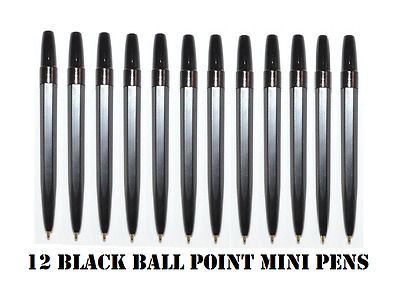 Mini Small Ball Point Pens- (12 Pens) Golf  Half Normal Size