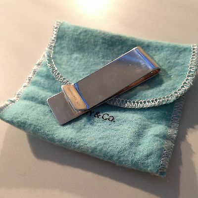 Tiffany & Co. Sterling Silver Classic Plain Money Clip 925 - Mint Condition