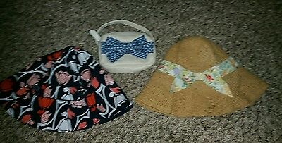 Girls gymboree janie and jack hats and mini Cherokee purse  lot