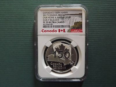 2017 Canada $1 1Oz Silver 150Th Anniversary Ngc Pf70 Uc Early Releases Pop 19