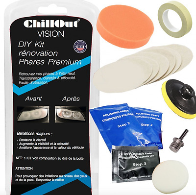 kit renovation phare restauration d'optique renovateur phare,ChillOut® Visi