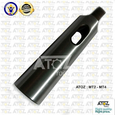 OEM Atoz MORSE TAPER DRILL SLEEVE ADAPTER MT2 Socket to MT4 Shank Made In India