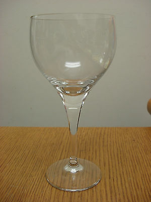 "3 av. Rosenthal STUDIO LINE 6-5/8"" x 3-1/4"" white wine glass CLEAR CRYSTAL"