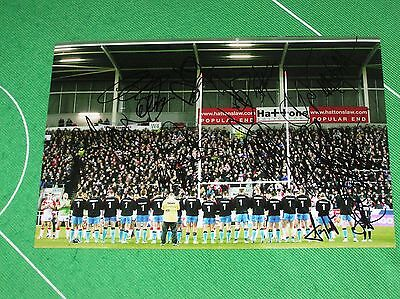 Hull FC Steve Prescott Trophy Team Photograph Signed x 14 2014 Players & Staff