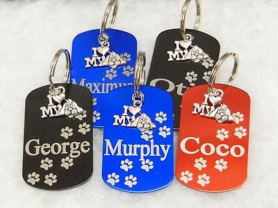 Puppy Dog Engraved Us Style Id Name Tag Disc Personalised Pet Identity Tags