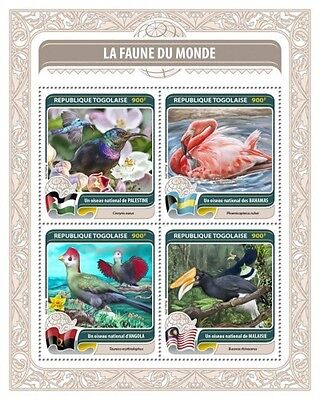 Z08 IMPERFORATED TG16416a TOGO 2016 Fauna of the World MNH