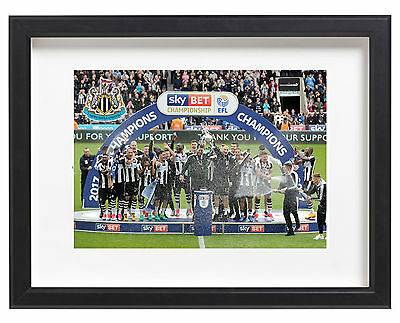Newcastle United Fc Championship Champions 2017 EFL Promotion A4 Poster