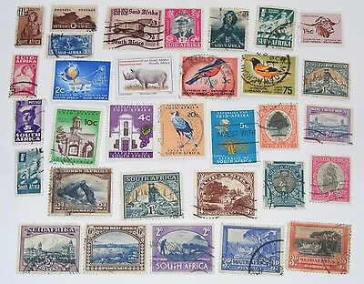 South Africa Stamp Lot 32x Variety Union & Republic Vintage Used Some HR