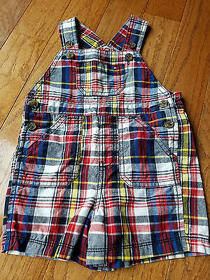 Tommy Hilfiger 12 month boys plaid overalls