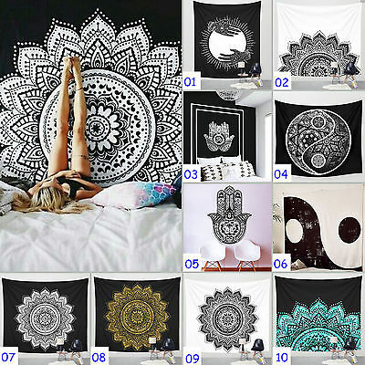 Indian Mandala Tapestry Bohemian Wall Hanging Hippie Throw Dorm Bedspread Decor