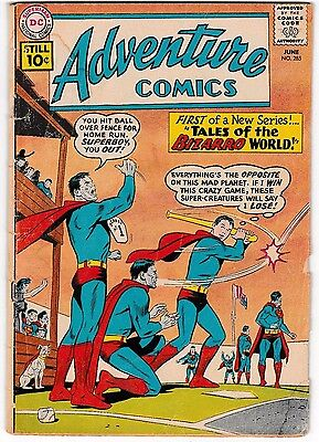 ADVENTURE COMICS #285 (GD-) 1st Tales of Bizarro World! DC Silver-Age 1961