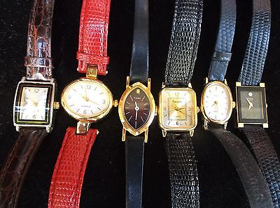 Lot Of 6 Ladies Women's Female Casual Formal Wrist Watches Girls Jewelry