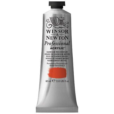 Winsor & Newton – Colore acrilico, 60 ml N/A Cad Red Med (L4s)
