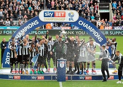 Newcastle United Champions Championship Winners 2017 POSTER